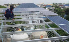 9 2013 in South-East Asia  using MRac Flat Roof Steel Racking System installation 80KW implementation of solar projects