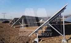12 2015 in China Shanxi using  MRac Ground Terrace I installation 300kw implementation of solar projects