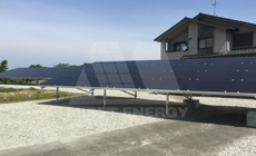 5 2016 in Japan  using MRac Ground Terrace IV installation 57.915kw implementation of solar projects
