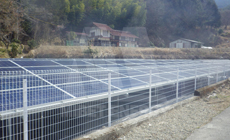 1 2016 in Japan  using MRac Ground Terrace IV+Fences installation 66.56kw implementation of solar projects