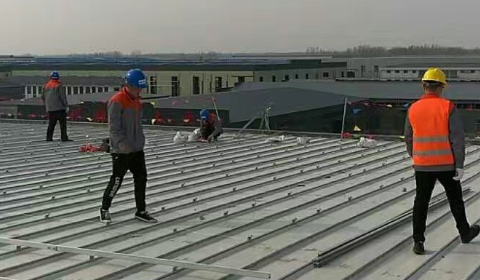 4 2017 in China jiangsu using MRac Roofon Versatile Interfaces installation 4.72MW implementation of solar projects