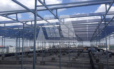 9 2014 in China  Shanghai using MRac Roof Mounting System installation 60kw implementation of solar projects